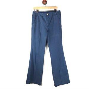 Tory Burch 30 pants wide leg blue cotton